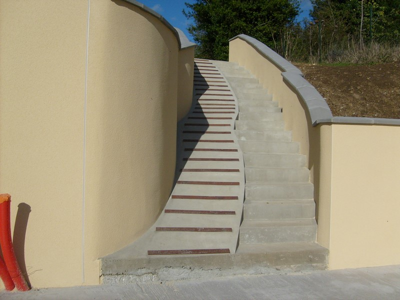 escalier exterieur l 39 artisan du cotentin. Black Bedroom Furniture Sets. Home Design Ideas