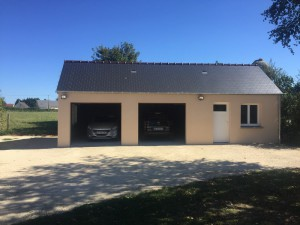Construction d 39 un garage l 39 artisan du cotentin - Truc construction garage ...