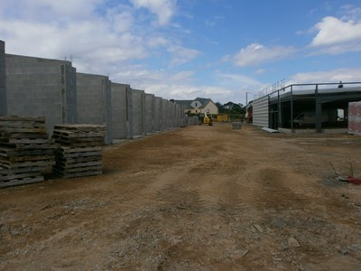 Construction des 24 garages en agglos