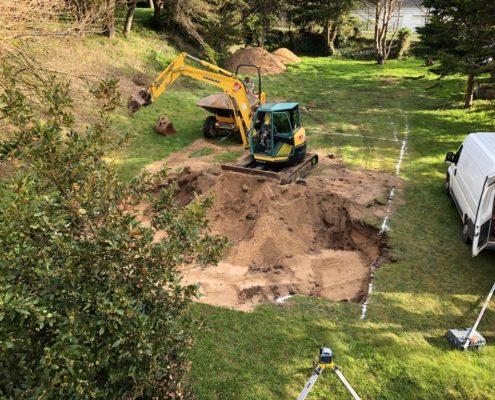 construction d'une piscine travaux de fondation et isolation