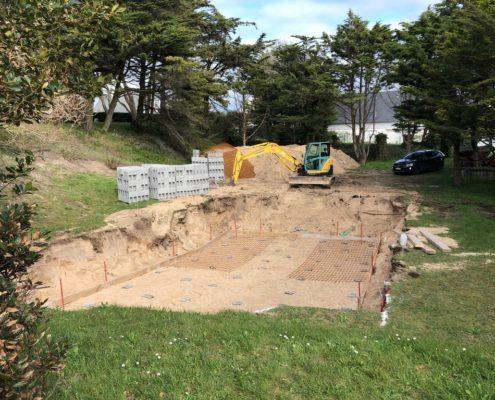 construction d'une piscine en béton armé